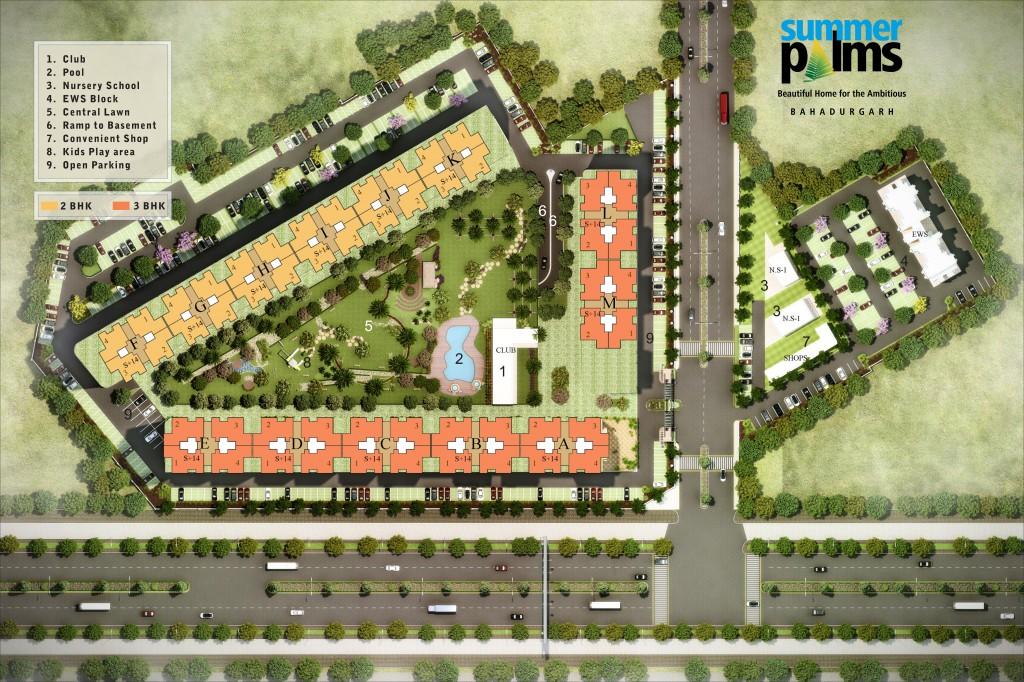 summer-palm-Bahadurgarh-site-layout