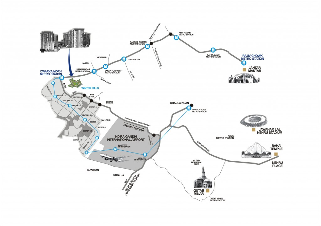 winter-hills-delhi-location-map
